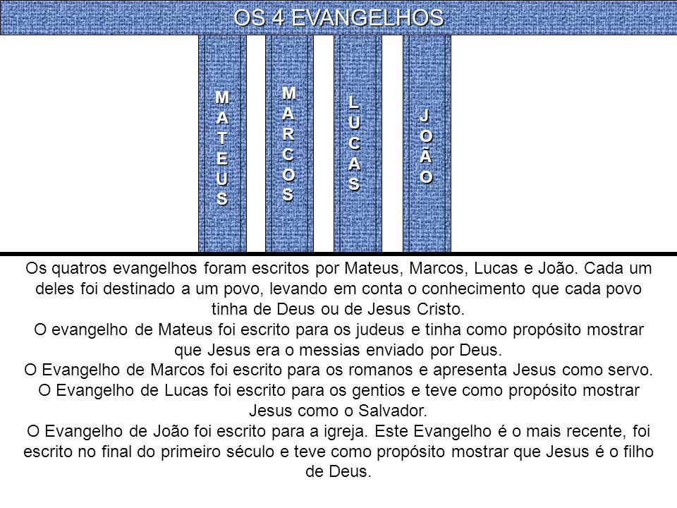 OS 4 EVANGELHOS MARCOS MATEUS LUCAS JOÃO