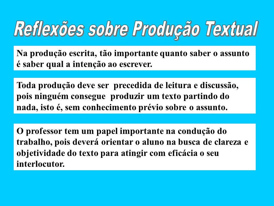 Reflexões sobre Produção Textual