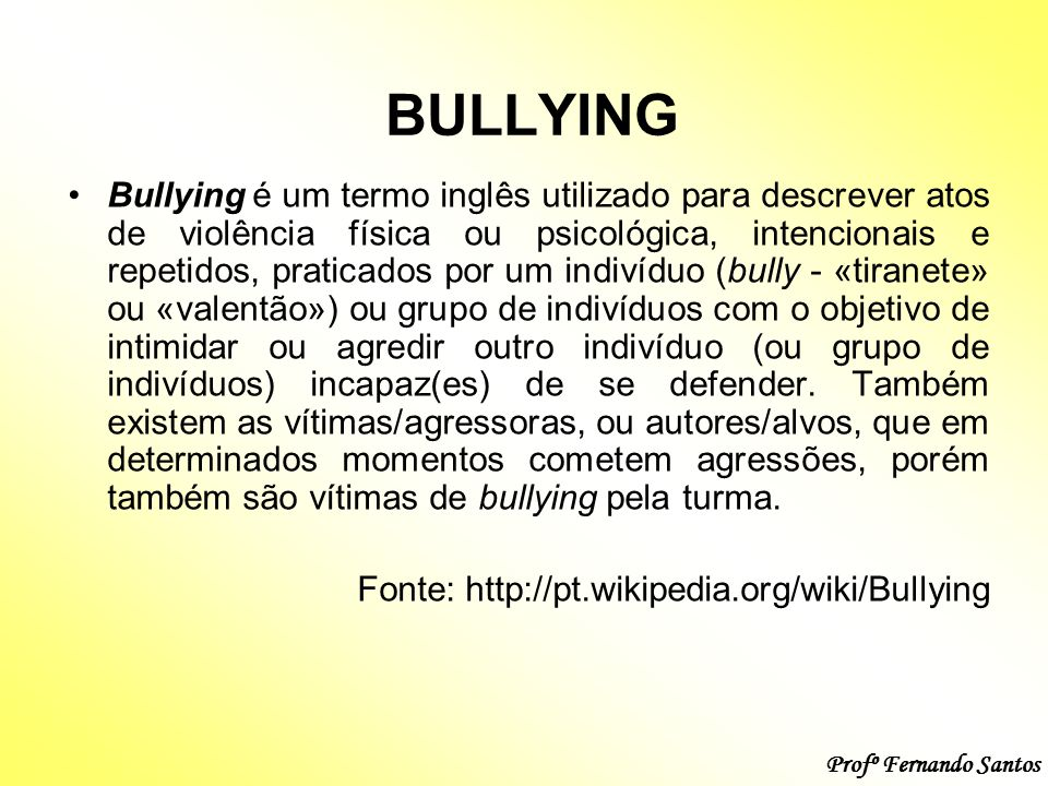 Well-known TEMA DE REDAÇÃO: BULLYING. - ppt video online carregar KL52