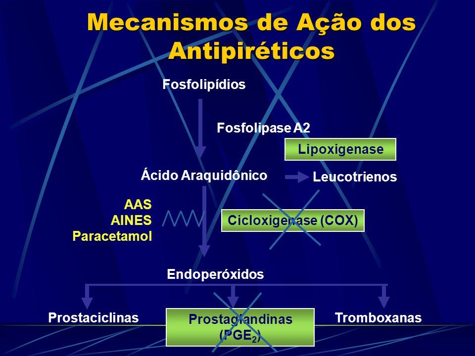Mecanismos de Ação dos Antipiréticos