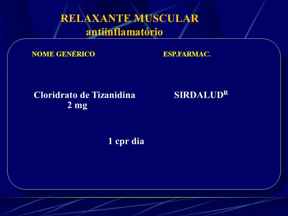 RELAXANTE MUSCULAR antiinflamatório Cloridrato de Tizanidina SIRDALUDR