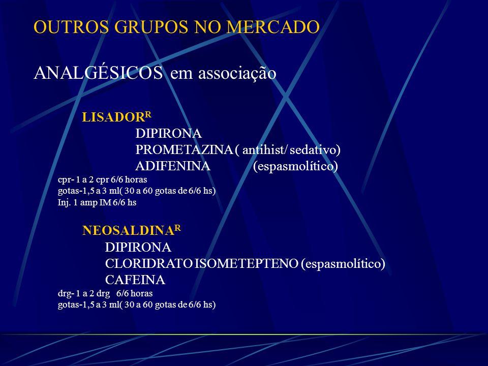 OUTROS GRUPOS NO MERCADO ANALGÉSICOS em associação
