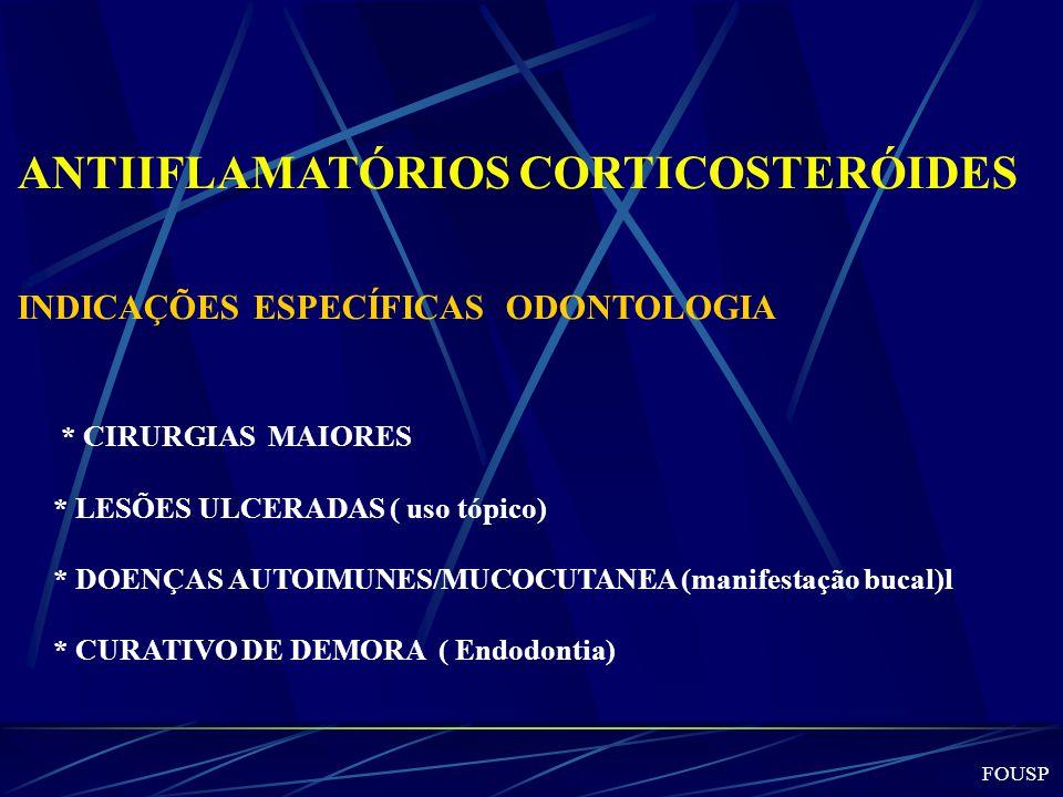ANTIIFLAMATÓRIOS CORTICOSTERÓIDES