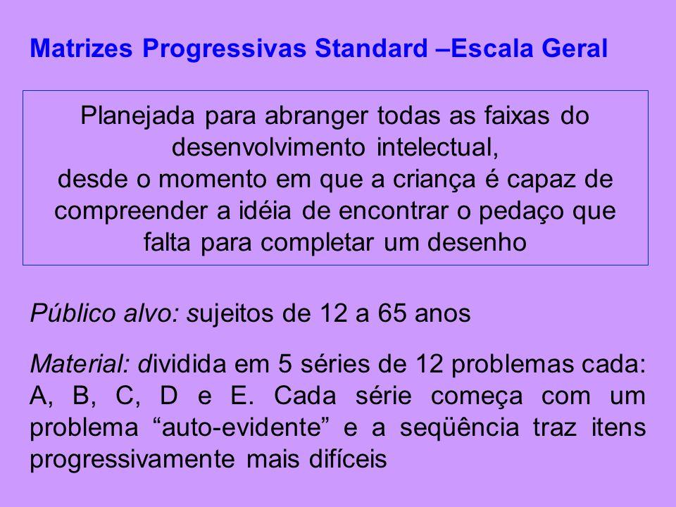 Matrizes Progressivas Standard –Escala Geral