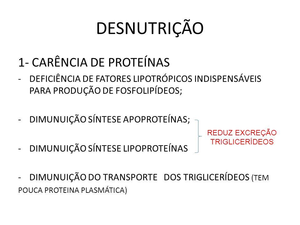 DESNUTRIÇÃO 1- CARÊNCIA DE PROTEÍNAS