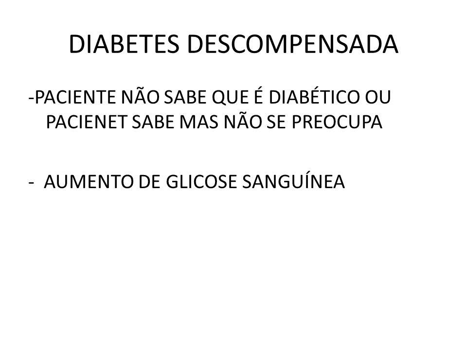DIABETES DESCOMPENSADA
