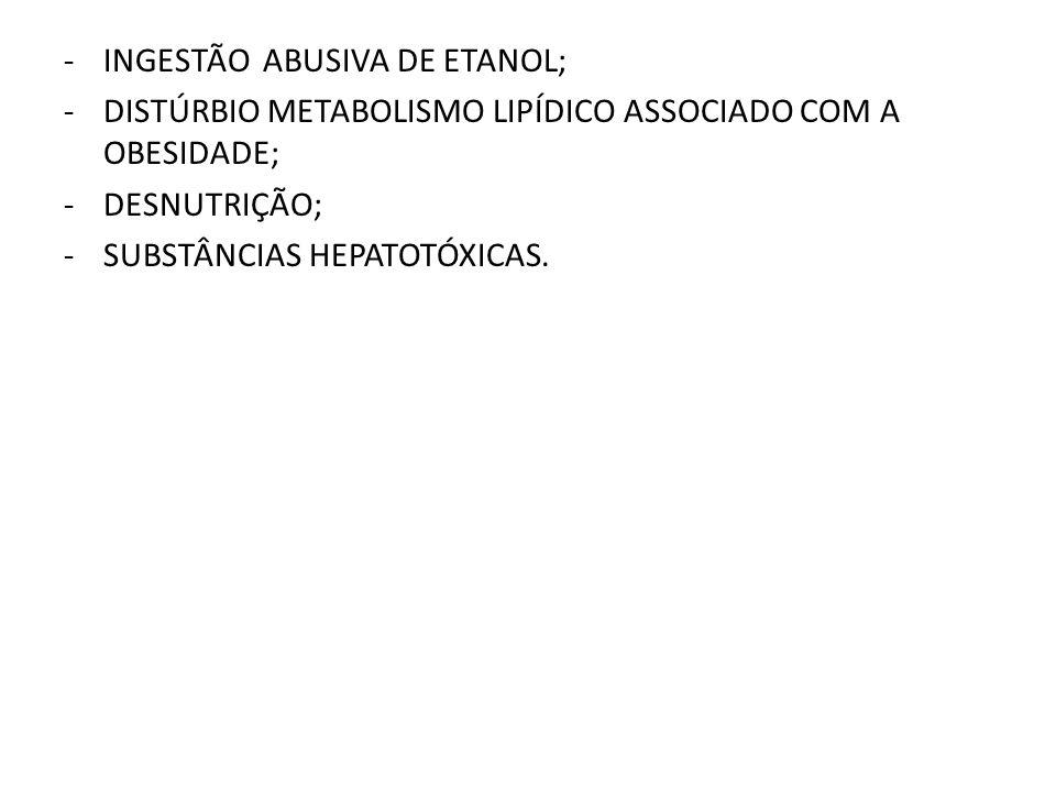 INGESTÃO ABUSIVA DE ETANOL;