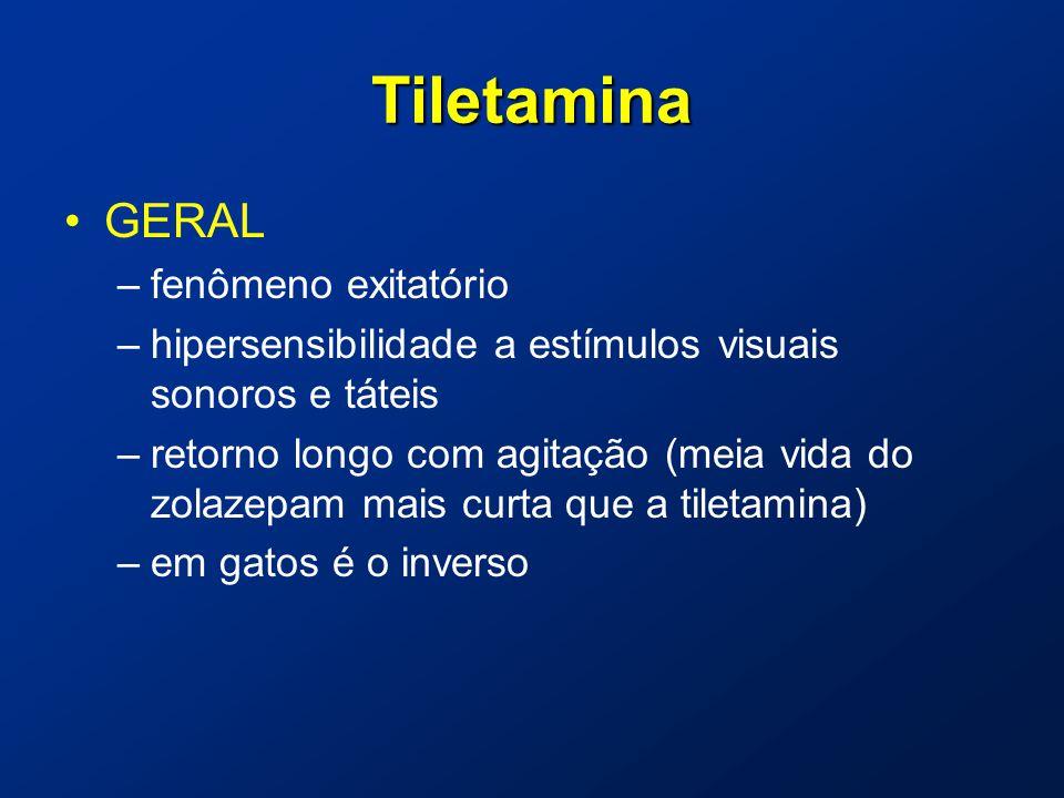 Tiletamina GERAL fenômeno exitatório