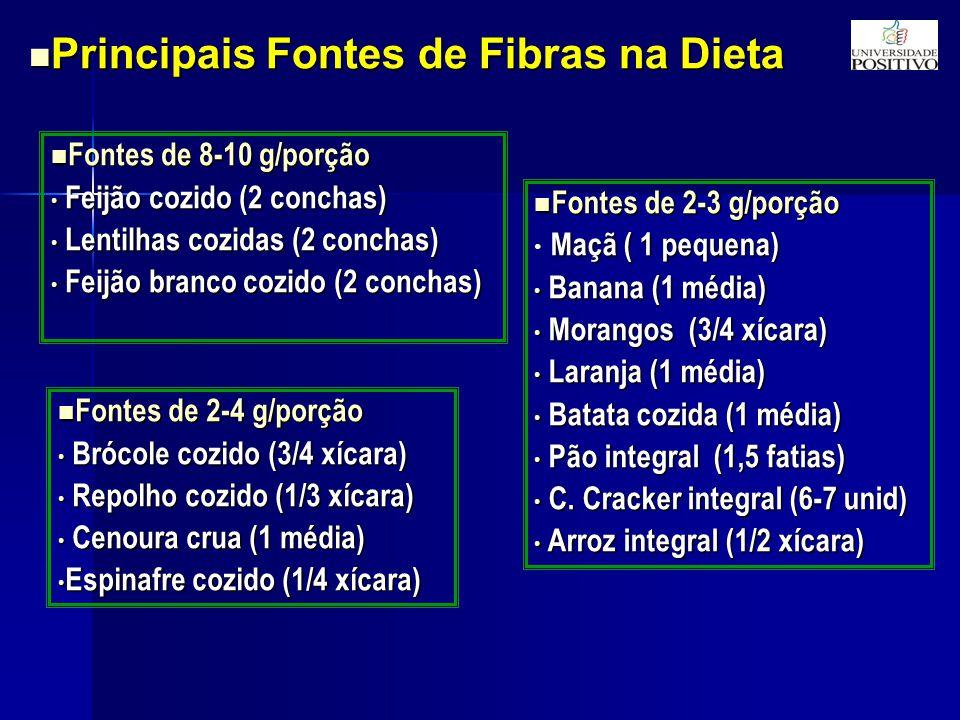 Principais Fontes de Fibras na Dieta