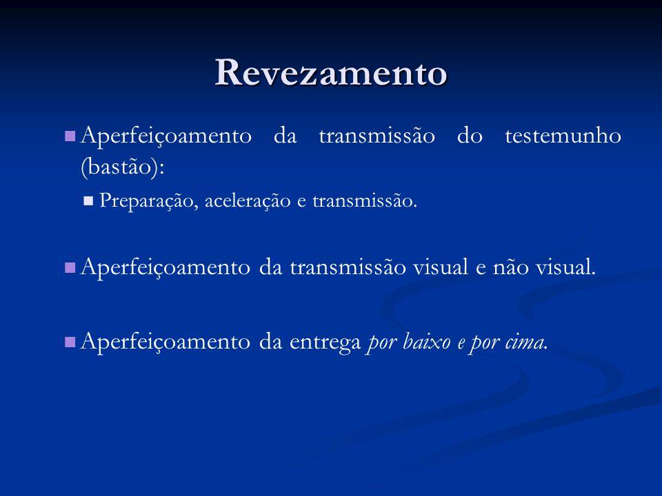 Revezamento Aperfeiçoamento da transmissão do testemunho (bastão):