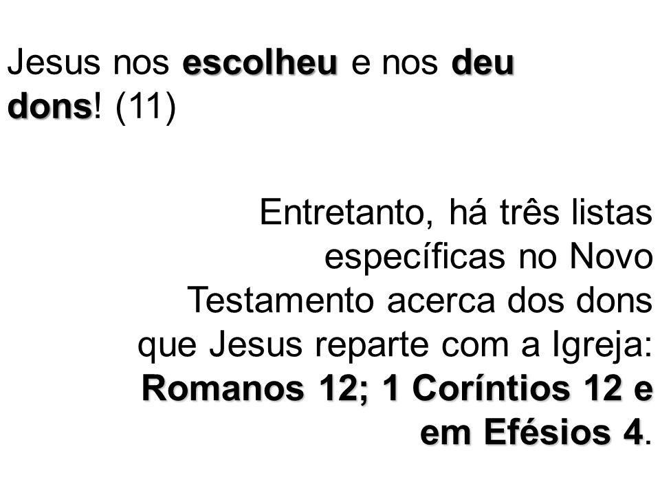 Jesus nos escolheu e nos deu dons! (11)