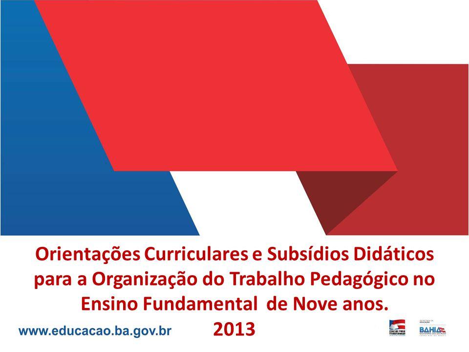 Orientações Curriculares e Subsídios Didáticos