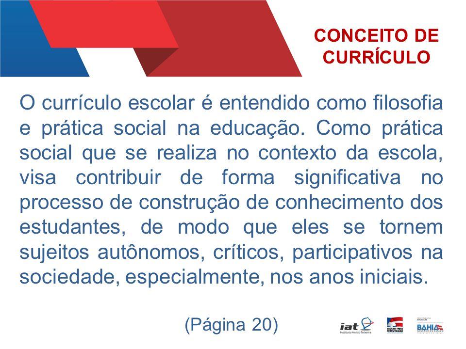 CONCEITO DE CURRÍCULO