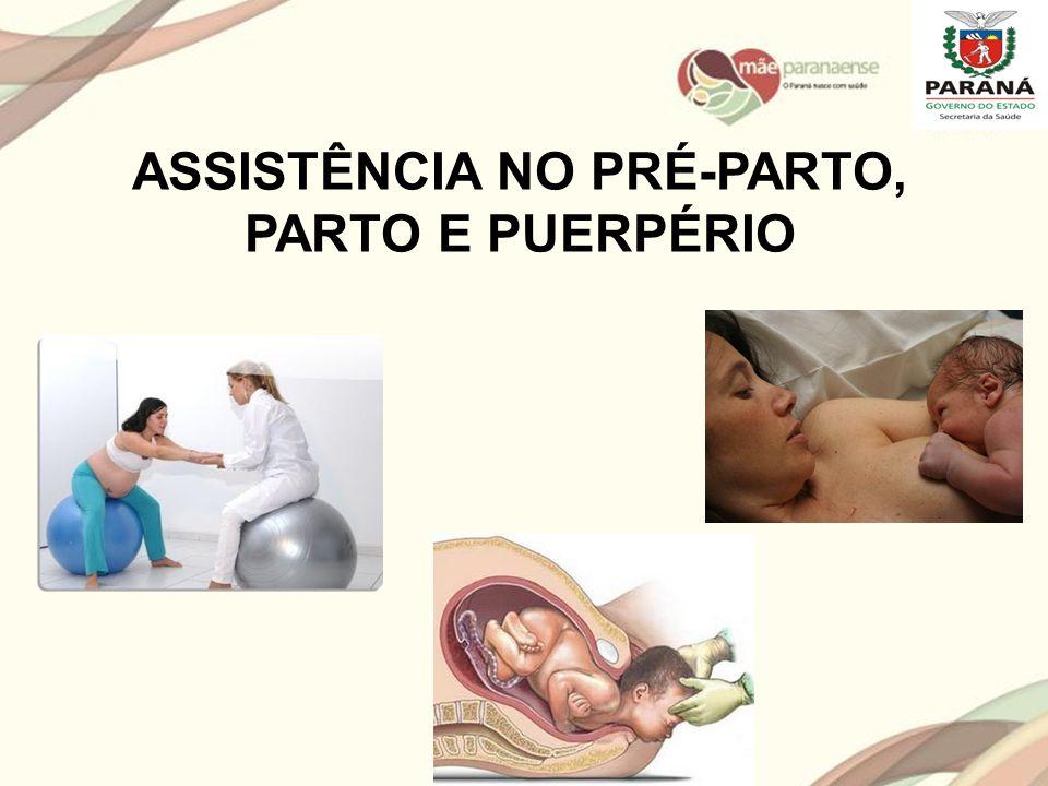 ASSISTÊNCIA NO PRÉ-PARTO, PARTO E PUERPÉRIO