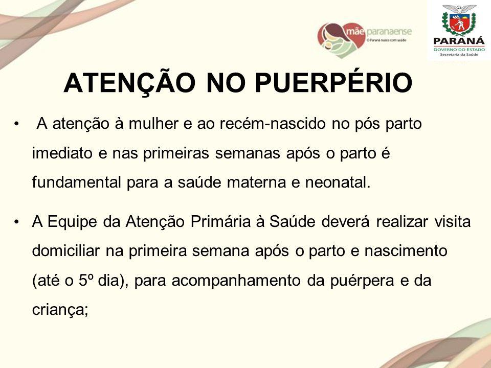 ATENÇÃO NO PUERPÉRIO