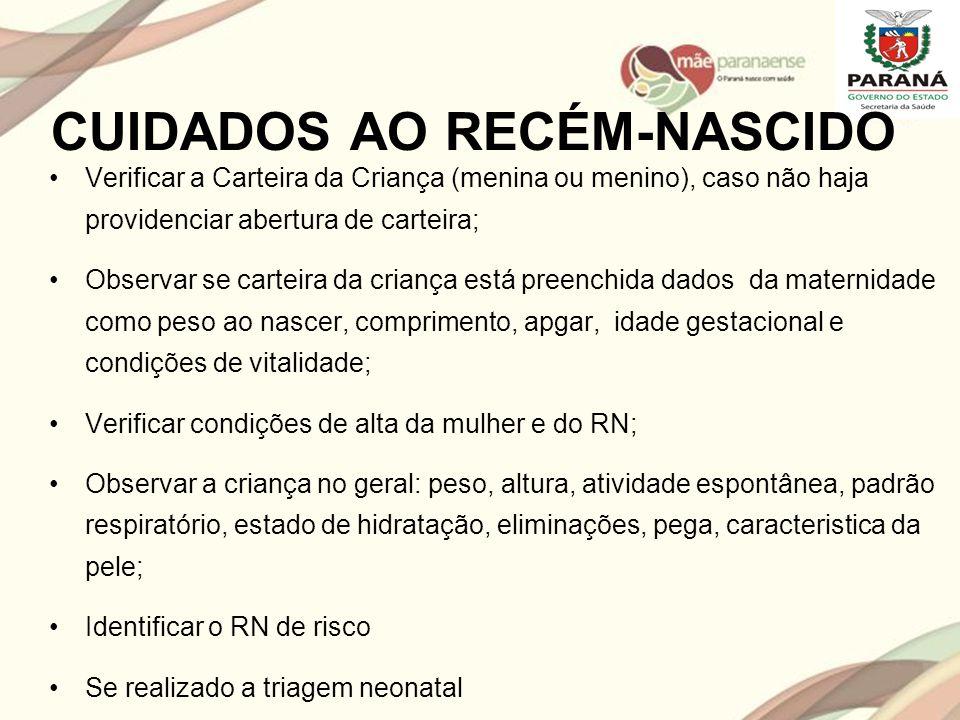 CUIDADOS AO RECÉM-NASCIDO