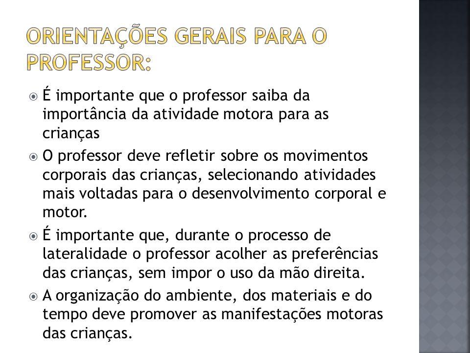 Orientações Gerais para o PROFESSOR: