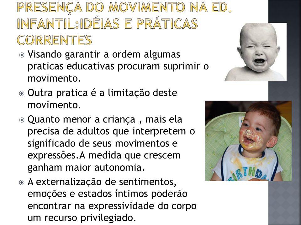 Presença do movimento na ED. INFANTIL:IDÉIAS E PRÁTICAS CORRENTES