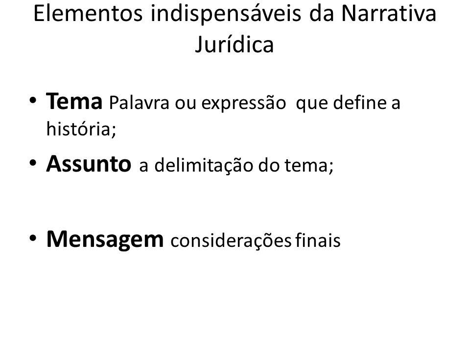 Elementos indispensáveis da Narrativa Jurídica