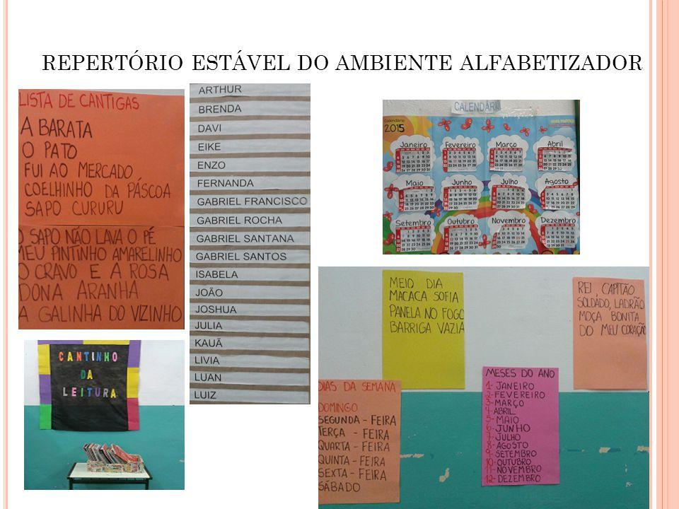 REPERTÓRIO ESTÁVEL DO AMBIENTE ALFABETIZADOR