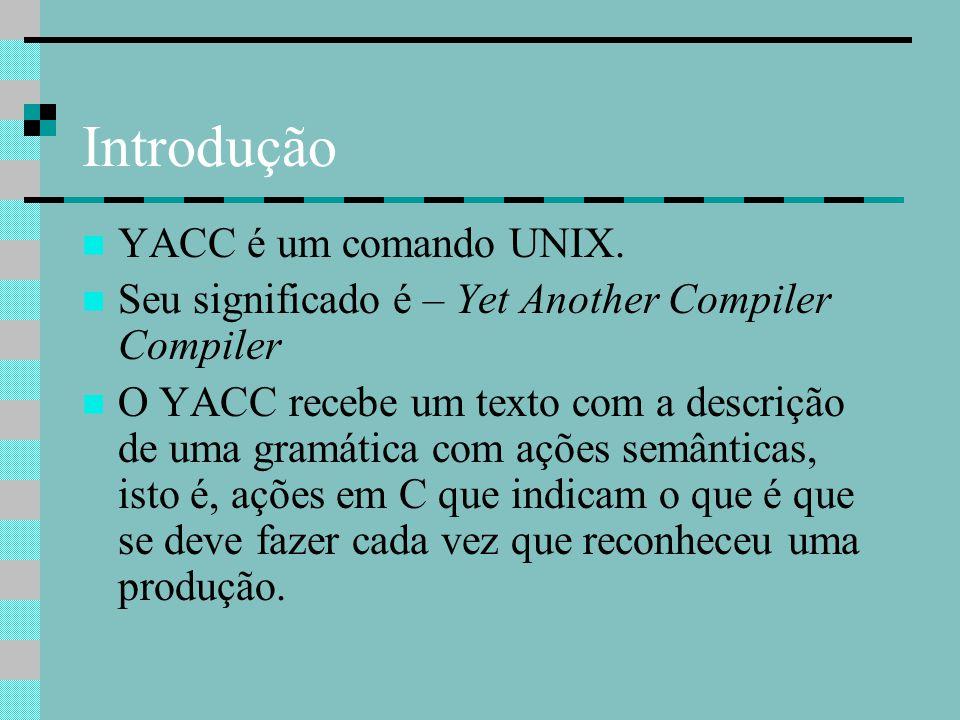 Lex E Yacc Compiladores Giovani Rubert Librelotto Ppt