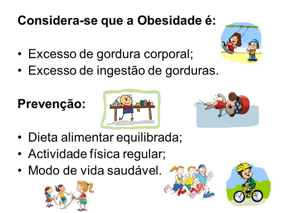 Considera-se que a Obesidade é: