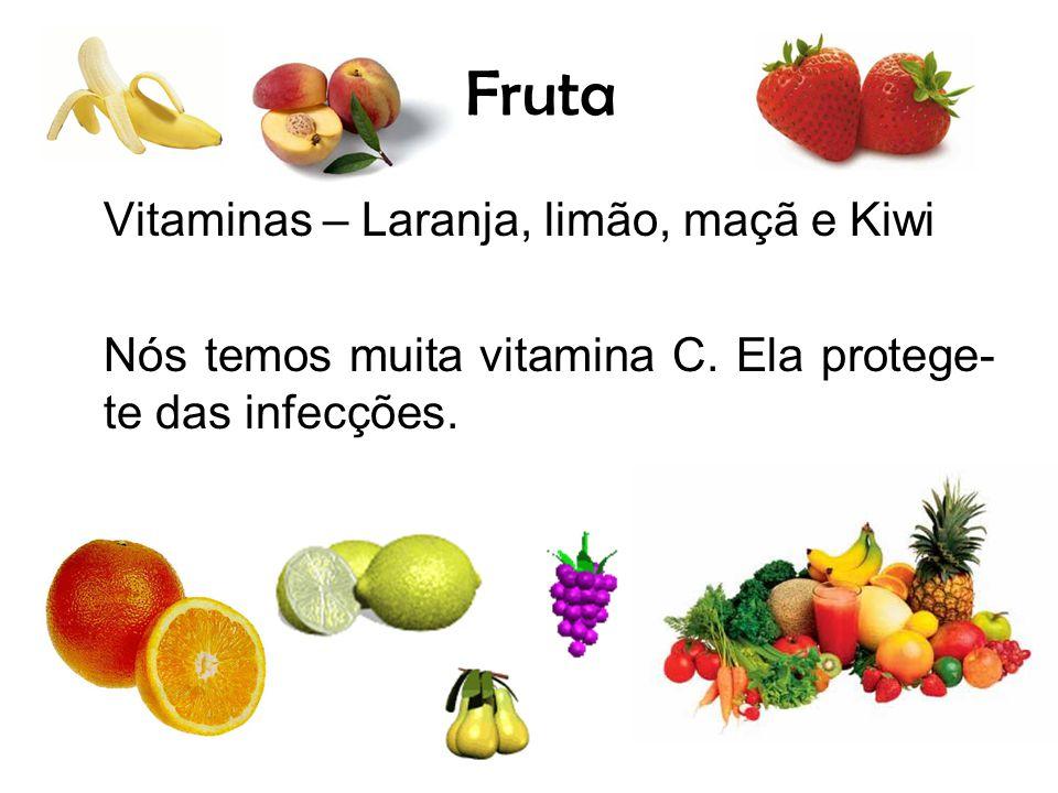 Fruta Vitaminas – Laranja, limão, maçã e Kiwi