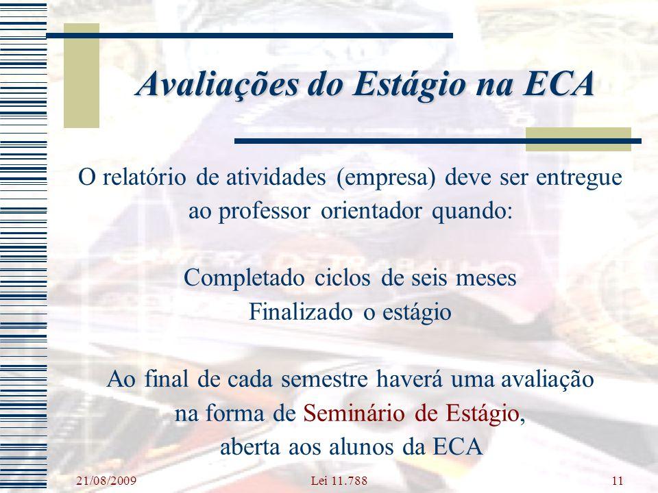 Avaliações do Estágio na ECA