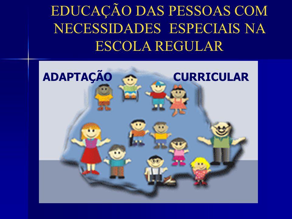 EDUCAÇÃO DAS PESSOAS COM NECESSIDADES ESPECIAIS NA ESCOLA REGULAR