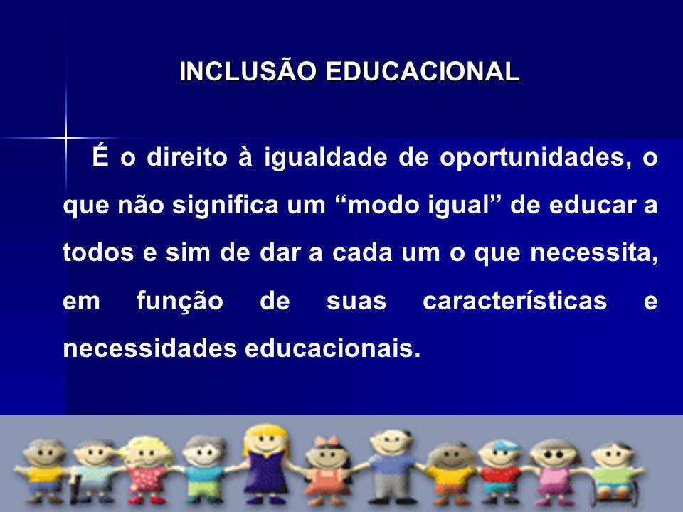 INCLUSÃO EDUCACIONAL