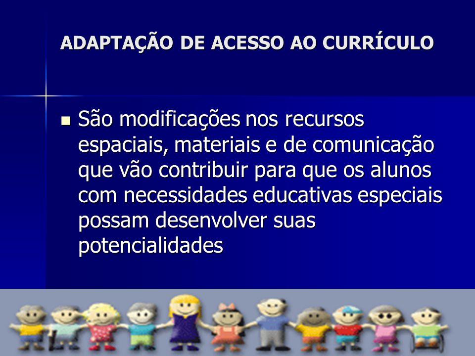 ADAPTAÇÃO DE ACESSO AO CURRÍCULO