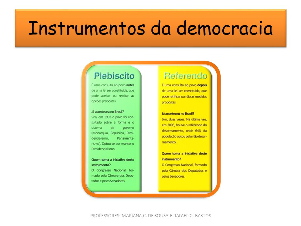 Instrumentos da democracia