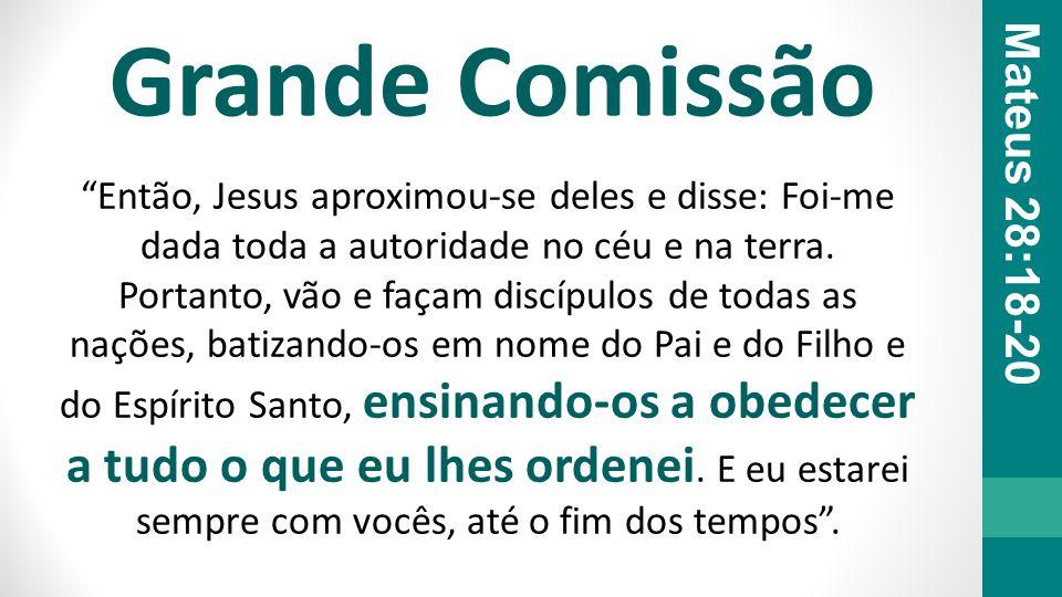 Grande Comissão Mateus 28:18-20