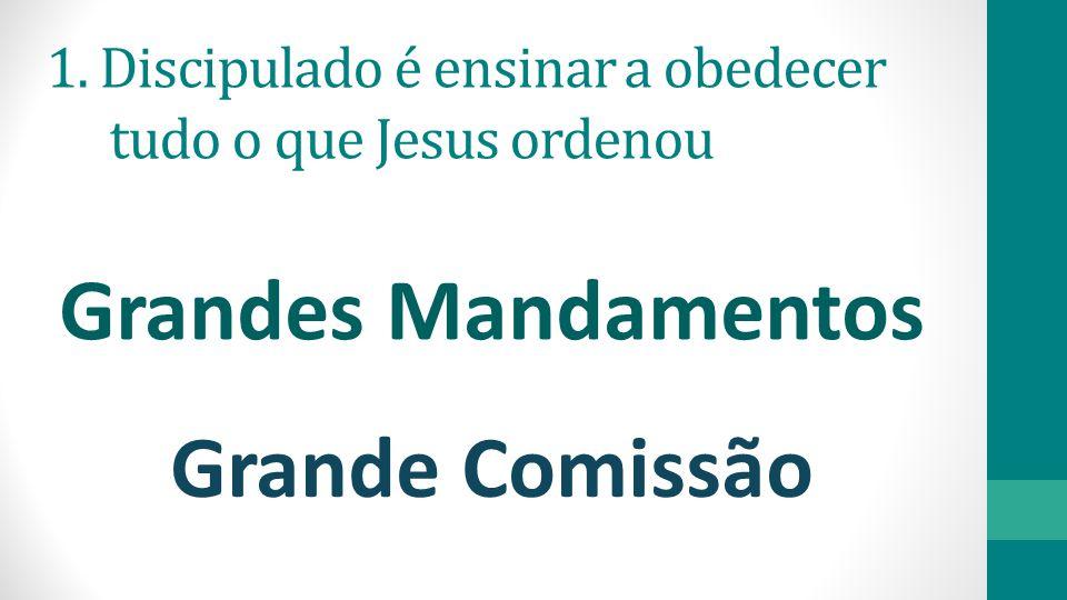 Grandes Mandamentos Grande Comissão