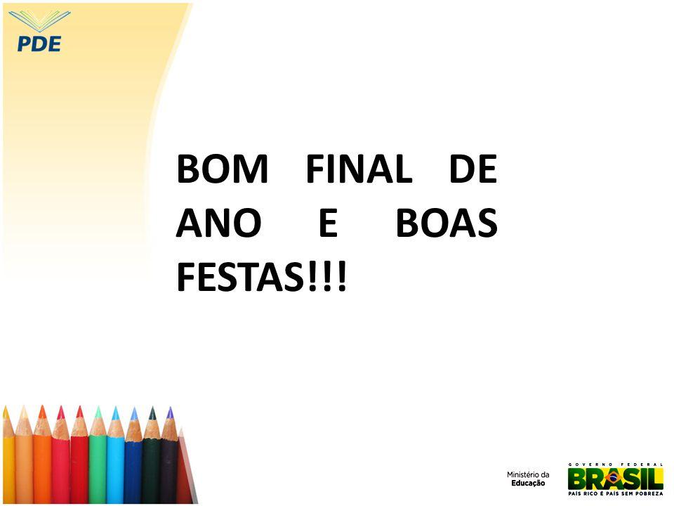 BOM FINAL DE ANO E BOAS FESTAS!!!