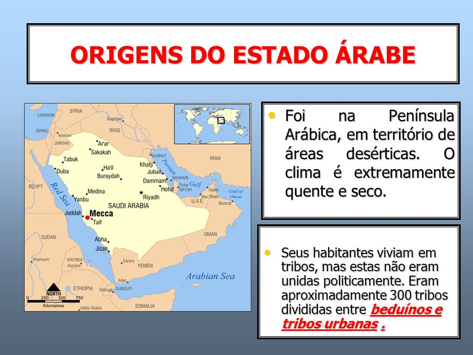 ORIGENS DO ESTADO ÁRABE