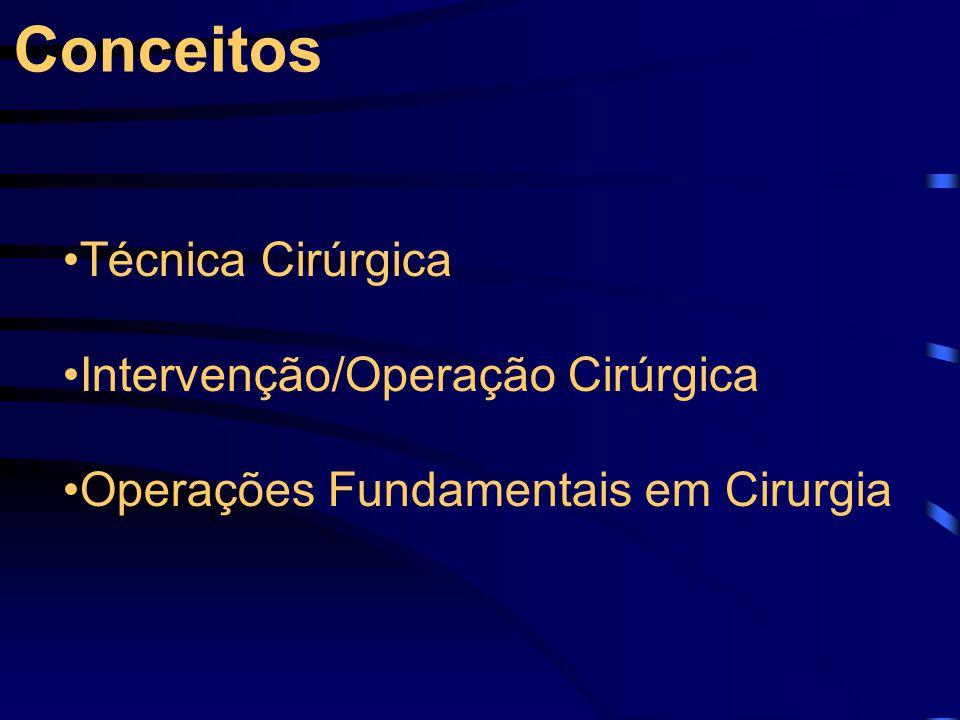 Conceitos Técnica Cirúrgica Intervenção/Operação Cirúrgica