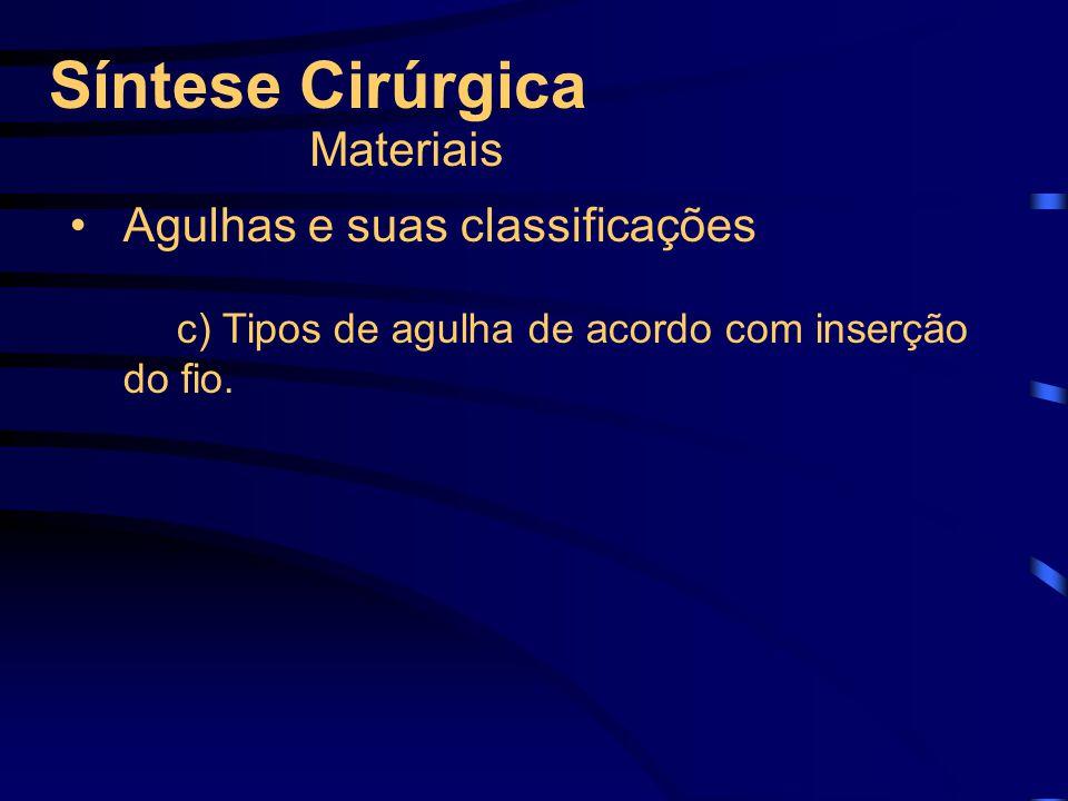 Síntese Cirúrgica Materiais Agulhas e suas classificações