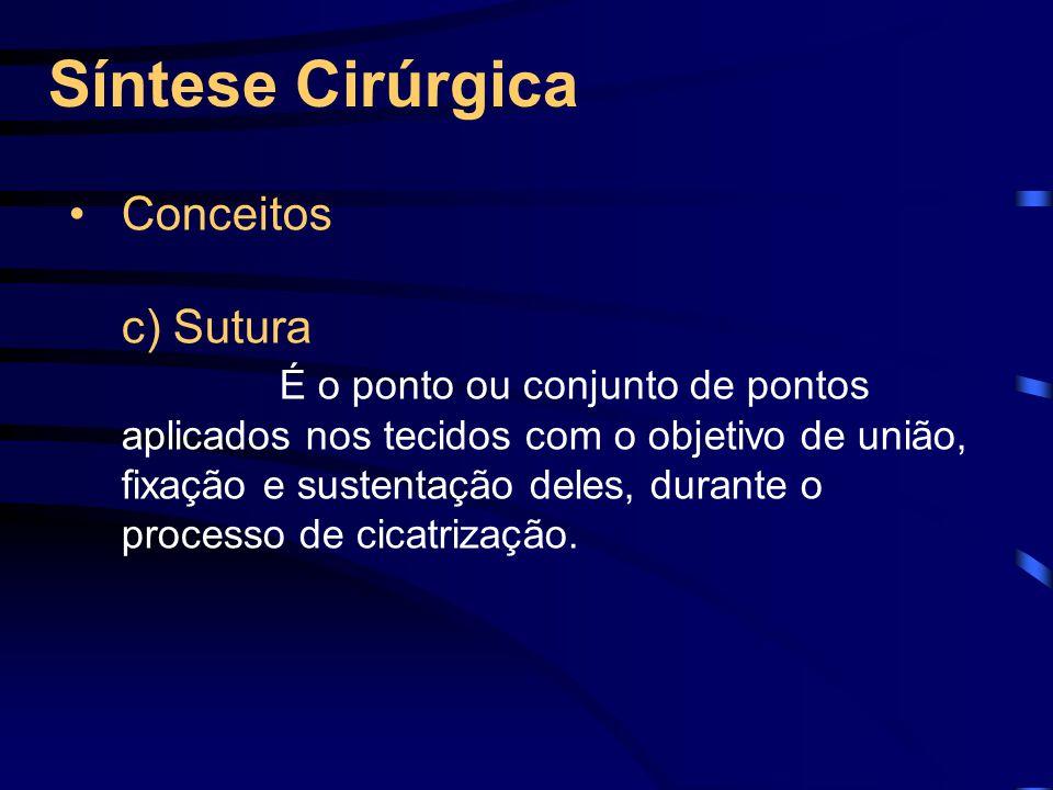 Síntese Cirúrgica Conceitos c) Sutura