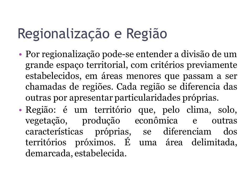 Regionalização e Região
