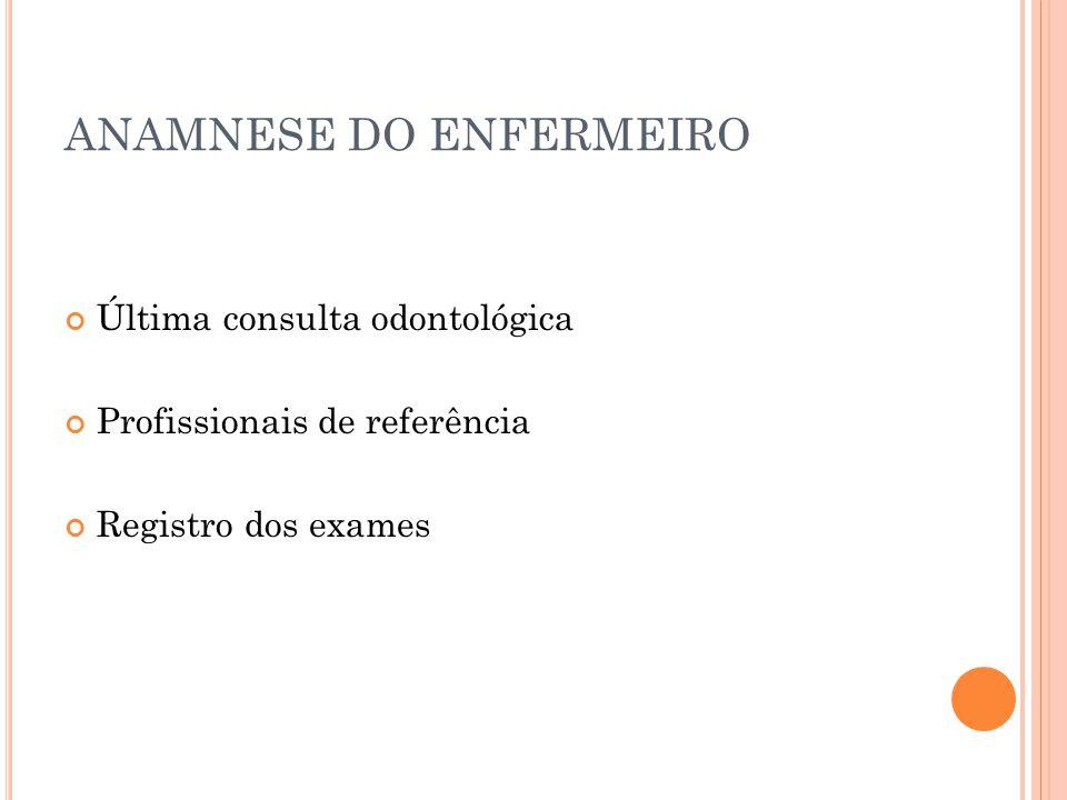 ANAMNESE DO ENFERMEIRO