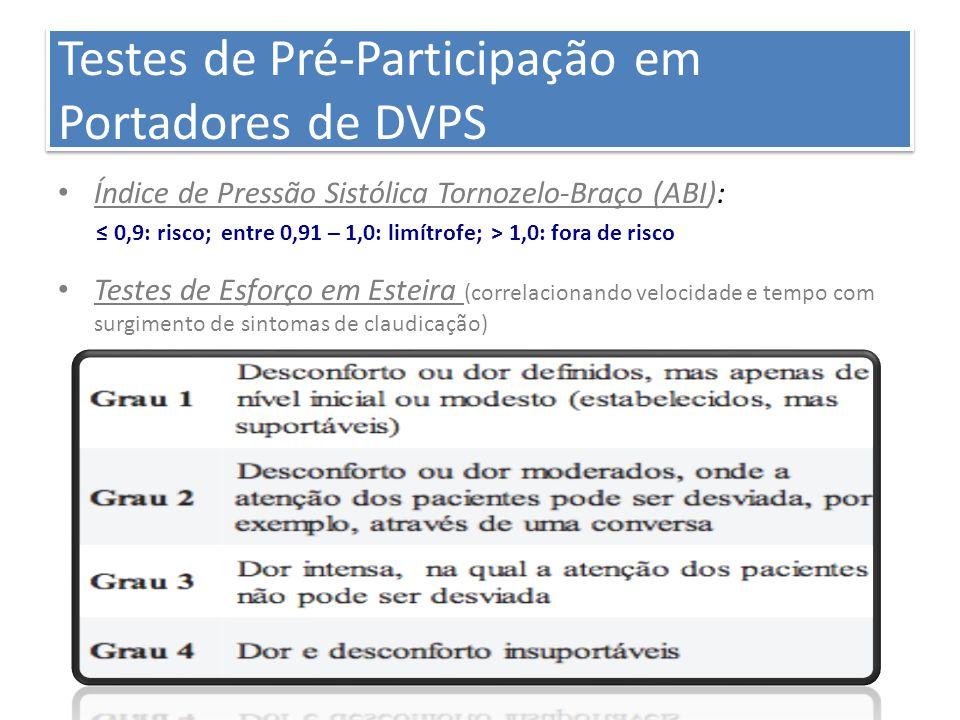 Testes de Pré-Participação em Portadores de DVPS