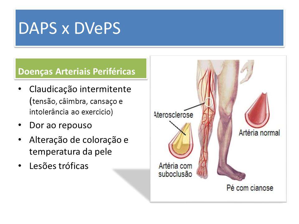 DAPS x DVePS Doenças Arteriais Periféricas