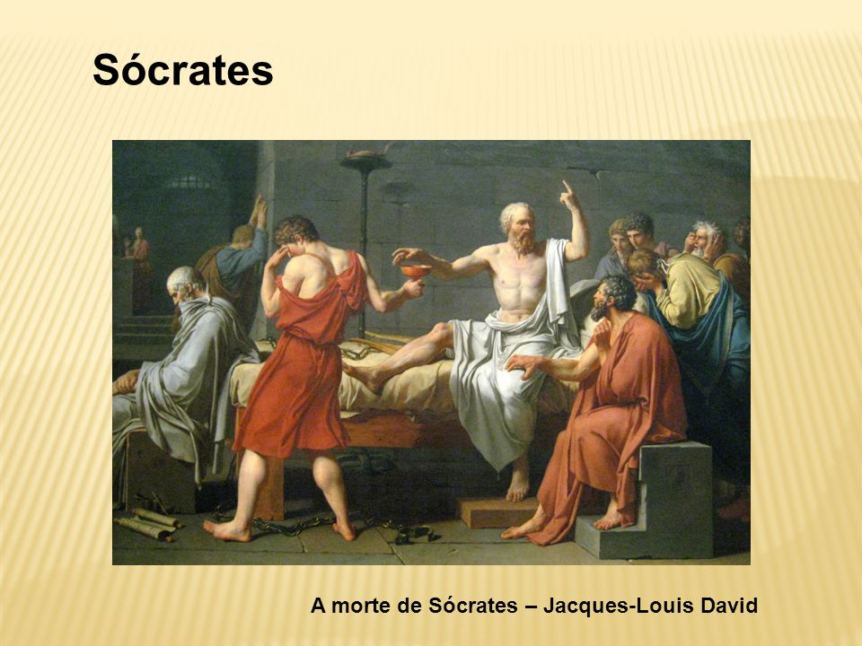 Sócrates A morte de Sócrates – Jacques-Louis David