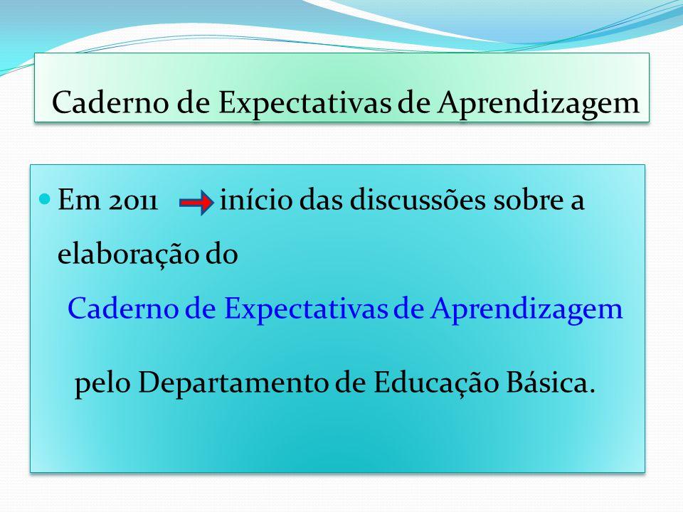 Caderno de Expectativas de Aprendizagem
