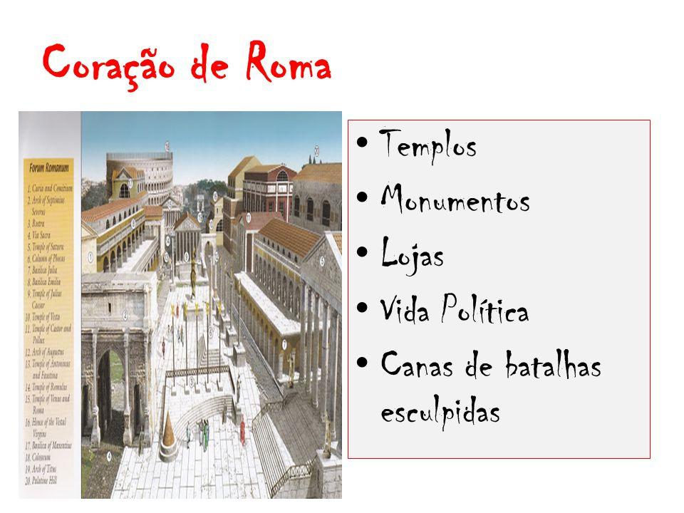 Coração de Roma Templos Monumentos Lojas Vida Política