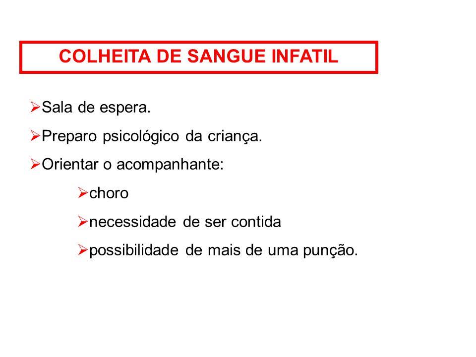 COLHEITA DE SANGUE INFATIL