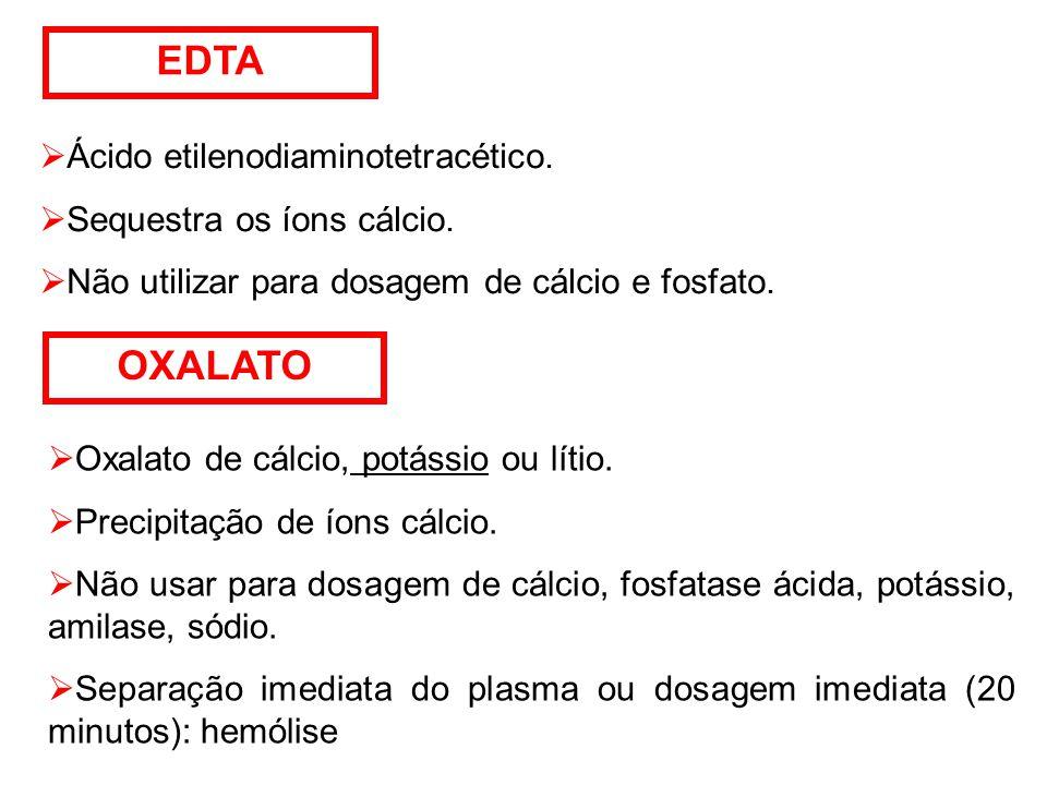 EDTA OXALATO Ácido etilenodiaminotetracético.