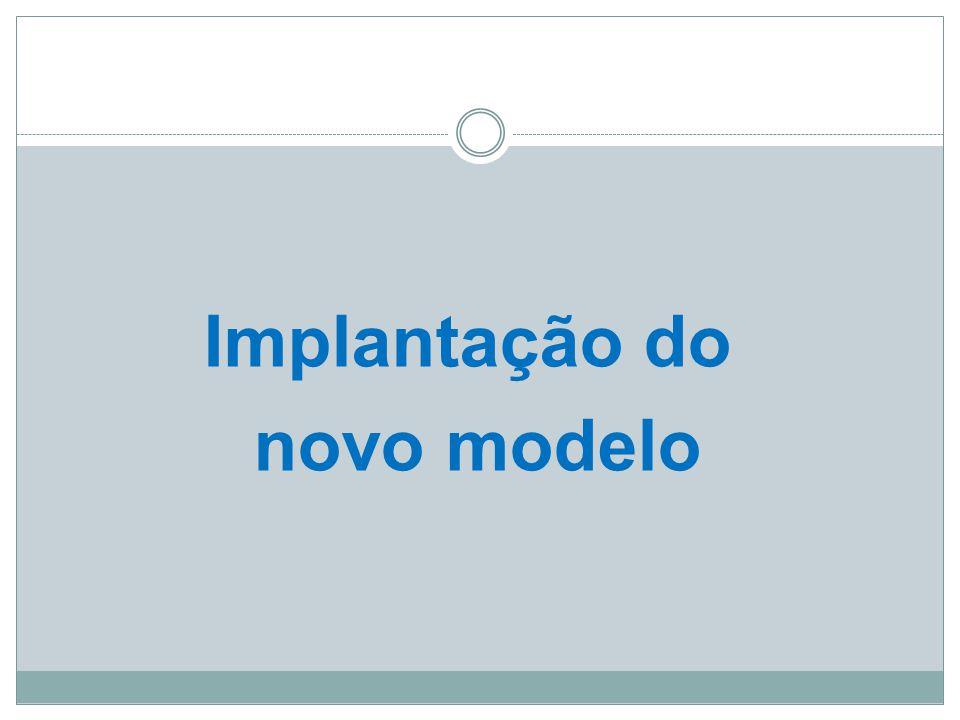 Implantação do novo modelo