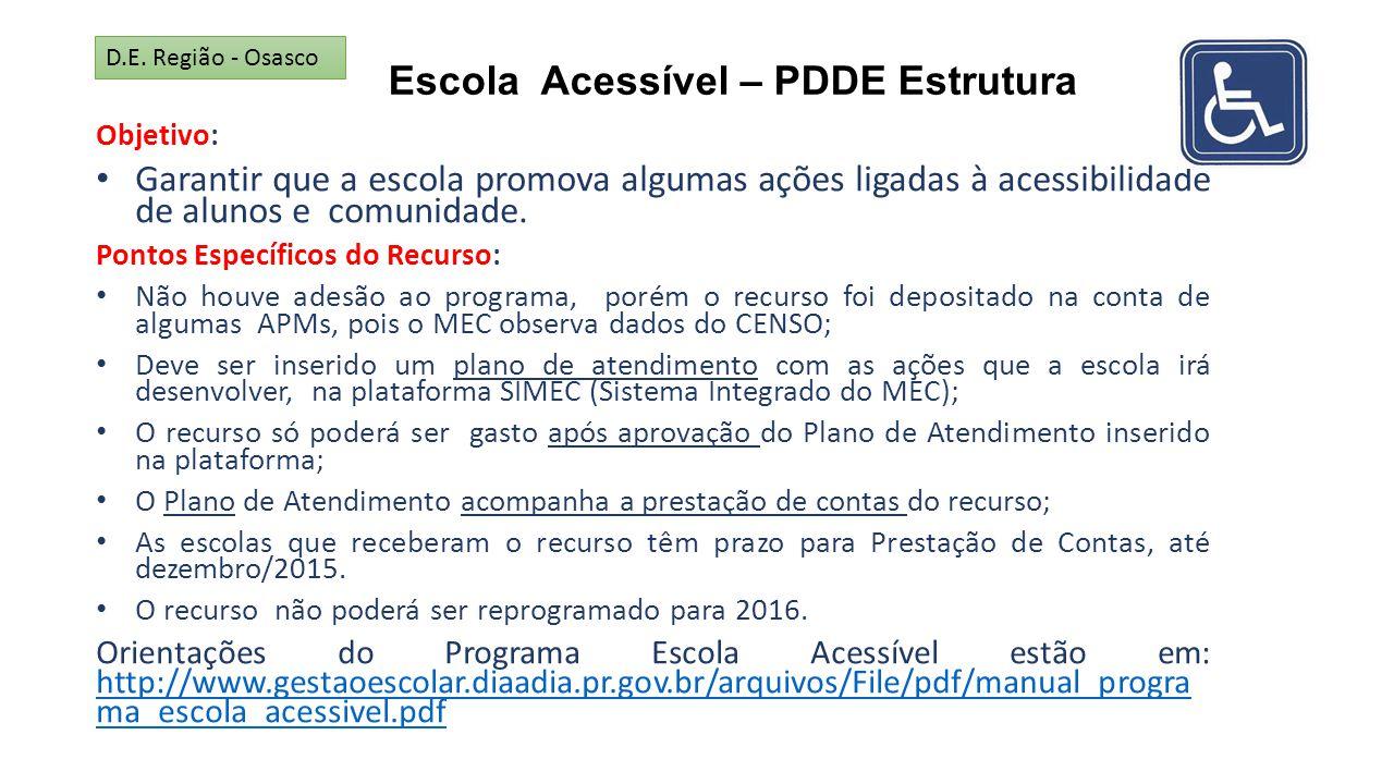 Escola Acessível – PDDE Estrutura